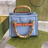 Top Bambus Designer Taschen Slub Griff Frauen Handtasche Massivfarbe Leder Geldbörse Mini Die hochwertige Frau Handtaschen Kompaktknopf Kleine Square Bag
