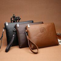 Wallets Male PU Leather Purse Men Clutch Business Carteras Mujer Handy Bags Black Brown Bag Portefeuille Pour Hommes