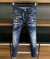 2021 DS.2 джинсы DS.2 дсQ DS.Q2 D2 мужские роскоши дизайнеры джинсовые джинсы дырки брюки байкер 9802