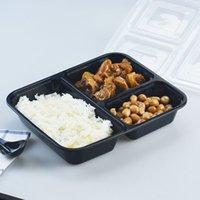 YLO MEAL Prep Sereware 3 Fack med lock, Livsmedelsförvaringsbehållare, Bento Box, Staplable
