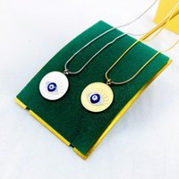 Earrings & Necklace Coin Evil Eye Pendant Choker For Women Wedding Punk Gold Color Long Chain Bohemian Crystal Charm Jewelry Gift