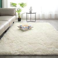 1 stücke Shaggy Tie-Dye Teppichbedruckte Plüschboden Flauschige Matten Kinder Faux Bereich Teppich Wohnzimmer Matte Seidige Teppiche 40 * 60cm