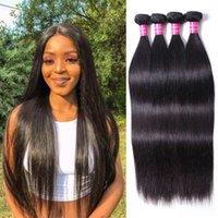 Human Hair Bundles Natural Straight Hair Weaves Weft Virgin Hair Extensions 4pcs Lot Natural Black