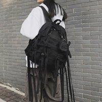 Rosetische gotische schwarze Rucksäcke Reisetasche Harajuku lässig Schulter Rucksack Punk Goth Mode Unisex Paar Schultaschen 201118
