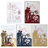Greeting Cards 20pcs set Laser Cut Ring Wedding Invitations Card Invite Envelopes Kit Bridal Shower Engagement Party Supplies
