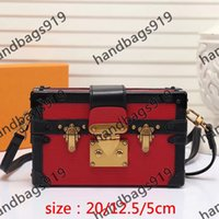 Trunk Bag shoulder bag  Bags  PETITE MALLE PETITE MALLE M54650트렁크 가방 메신저 가방 색 크로스 바디 가방 여성 Pochette 패션 클래식 크로스 바디 미니 여성 가방 패션 가방 핸드백