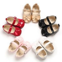 Athletic & Outdoor Born Infant Kids Fashion Princess Shoes PU Leather Baby Girls Solid Color Casual With Bow Knot Spring Autumn 0-18 Moths