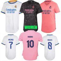 2021 2022 Real Madrid Mujeres Jerseys de fútbol Vini Jr. Alaba Rodrygo Asensio Valverde Casemiro R.Varanemodric Peligro Benzema 20 21 22 Camisa femenina de fútbol