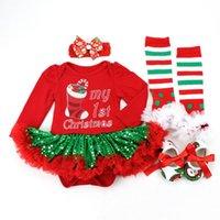 Giyim Setleri Noel Giysileri Doğan Bebek Kız İlk Romper Tutu Kıyafetler Set 0-18 Ay Sonbahar