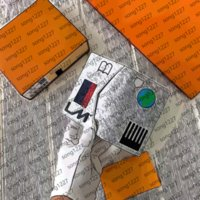 2021DESIGN A أنيقة L جيب قصيرة محفظة بدلة Walle T سستة محدودة بيع بطاقة حزمة