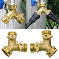 Y-Type 2-Wege-Umleitungsventile Wasserhahn Splitter-Stecker Gartenausgang Schlauchteiler Zapfenadapter Bewässerung 21 Großhandelsgießausrüstung