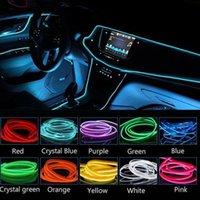 Bandes 3M LED Light Light Bande El Fil Atmosphère Lumières DIY Flexible Étanche Néon Décoration Ambilight pour la voiture Intérieur et fête