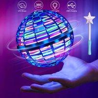 FlyNova Pro UFO Fidget Spinner Toys Fingertip Kids Portable Flying 360° Rotating Shinning LED Lights Spinning Top Release Xmas Hand Decompression Toy Gift 3 Color