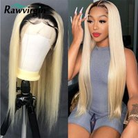Lace Wigs Straight Front Wig 1T613 Frontal 613 Colored Human Hair Blonde Transparent