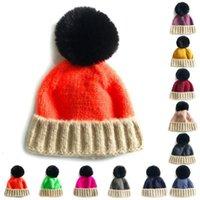 1PCS Multicolor Baby Beanie Hat Fashion Creative Cute Pom Knit Cap Soft Warm Hat Autumn Winter Knit Elastic1