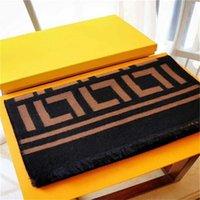 2021 Klassisches Design Kaschmirschal für Männer und Frauen Winter Warme Schals Großer Brief Muster Pashminas Tücher Schals 2 Farbe