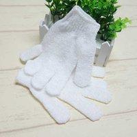 Банные кисти, губки скрубберы белый нейлоновый корпус чистящие душ перчатки отшелушивающие перчатки пять пальцев полотенце аксессуары для комнаты NV6C