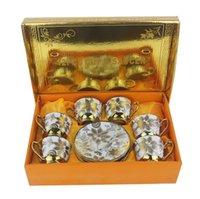Vintage European Tea Coffee Cup Ceramic Sets Small Porcelain Royal Wedding Tazas Cafe Kitchen Bar Supplies