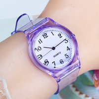Designer horloge merk horloges luxe horloge quartz pols jelly voor meisje jongen klokken sport baby student transparant plastic