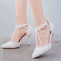 Sandals Women's high heels crystal queen, wedding shoes with white rhinestones. JZPL