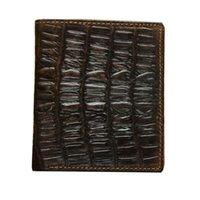 Wallets Handmade Vintage Genuine Leather Wallet Men Alligator Real Cow Short Purse Male Money Clips Bag1