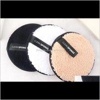 Aessórios Saúde Beleza Gota entrega 2021 1 Pc Macio Microfiber Maquiagem Removedor Toalha Cleaner Puff Puff Reusável Pano de Limpeza Fundação
