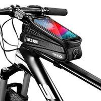 Водонепроницаемый велосипедный мешок рамы передней верхней трубки велосипедные отражательные 6,5 дюйма телефона чехол сенсорный экран MTB велосипедные аксессуары
