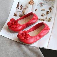 Modelos de primavera Versión coreana Chica Casual Kick Butterfly Baile Niño Niño Suave Inferior Huevo Rollo Zapatos Negro Rojo