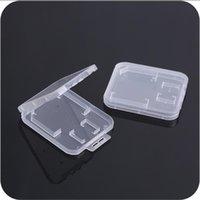 صناديق التخزين صناديق صغيرة شفافة البلاستيك حماية القياسية SD TF MMC بطاقة ذاكرة بطاقة ذاكرة حالة مربع LX5054