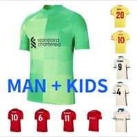 Tamanho S-4XL homem Kit Kit 21 22 Jersey Soccer Jersey Fãs de Futebol Tailândia Club Team 2021 2022 Uniformes de Treinamento Casa Red Away Amarelo Camisa Adult Kits