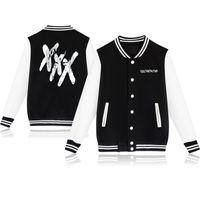 Jesień Piękny Harajuku Streetwear Uniform XXXTENTAcion Baseball Kurtki i płaszcze Kobiety / Mężczyźni Casual Sportswear