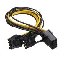 8 pin bis dual8pin (6pin + 2pin) Stromversorgung Kabel Grafiken Grafikkarten PCI-E PCIe Splitter Kabelkabel zum Bergbau