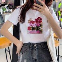 4Women 2021 Beijing Opera 90s Vogue Fashion Tops Tshirts T Clothes Shirt Womens Ladies Graphic Female Tee T-Shirt Women's