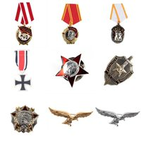 Pins, broches comemorativa moeda moeda ordem de estrela vermelha exército russo união soviética ussr dignal de medalha militar cópia presente de jóias