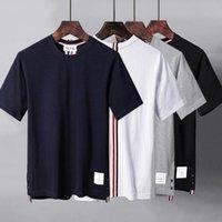 Высококачественные туберкулезные туманные моды бренд задней ленты полоса лето круглые шеи с коротким рукавом футболка повседневная тенденция мужская и женская одежда носить