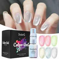 Nail Art Kits Cat Eye Gel Polish Set Varnish Semi Perman Glitter Color Matte Top Coat Lacquer All For Manicure
