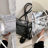 Luxurys Ssummer прозрачный 2021 новая тенденция плеча большая емкость женская сумка мода граффити желе сумка сумка
