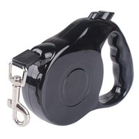 Automatic Extensible Flexible Retractable Black ABS Nylon Pet Dog Collar Belt Traction Rope Harness Leashes Collars &