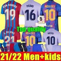 21 22 uomini adulti KIT KIT KIT BARCELLONA PIANDA DI CALCIO HOME AVANO 3RD Ansu Fati Messi Kun Aguero 2021 2022 F.De Jong T Countinho calcio camicia