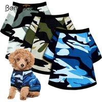 Chemise de chien respirante Benepaw Confortable camouflage Durable élastique chiot Tshirt coton vêtements pour animaux de compagnie pour petits chiens moyens vêtements