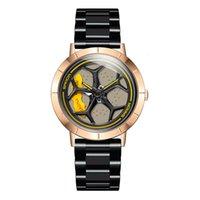 Relógios de pulso estilo masculino moda cavidade de aço hold way watch sanda1025-1