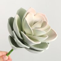 Suculents artificiales Plantas Lotus plástico Falso Paisaje Bonsais Plantas Artificiales Home Garden Boda Navidad Navidad Flores decorativas
