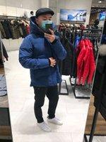 مصمم رجل دوي سترة أعلى جودة الرجال حزب الشتاء سترة أسفل سترة الشتاء هوديي علامة معطف أزياء راقية