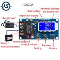 Circuiti integrati 10A / 3A DC 6V-60V Li-ion Modulo per caricabatterie Litium Batteria Litium + Protezione Display LCD modulo di protezione BMS