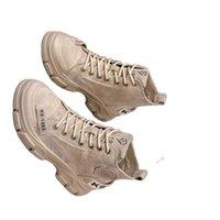 Stivali in pelle di fango Martinboots Donne Primavera e autunno Singolo Chunky Casual Short Shoe Desert Tide