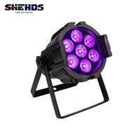 Shehds Mini Alliages d'aluminium LED par 7x18W RGBWA + UV Éclairage DMX512 Lavage DJ Étape Stage Disco Party Musique Lumière