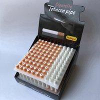 100 teile / lot keramische zigarettenform rauchrohre 78mm 55mm handtabacco pipe snuff rohr ein hitter bat herb tools zubehör