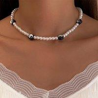 Ожерелья кулон C04150ingemark Винтаж круг Tai Chi Yin Yang Gossip Choker Ожерелье Boho Имитация жемчуг цепочка шеи для женщин Jewelr