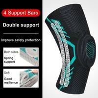Elbow & Knee Pads Patella Basketball Running Compression Sleeve Kneepad Pressurized Protector Brace Elastic Spring Pad