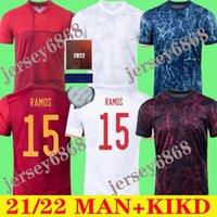 2021 España Rodrigo Paco Alcacer Ferran Koke Espanha Soccer Jersey Morata Ramos Iniesta Saul Thiago Gaya Futebol Camisa Camisetas de Futbol